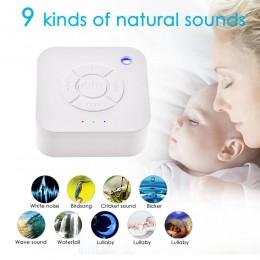 Biały urządzenie ułatwiające zasypianie USB akumulator czasowy wyłączenie snu dźwięk maszyna do spania i relaksu dla dziecka dor