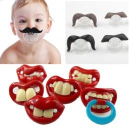 Silikonowy zabawny smoczek smoczek dla niemowląt Joke Prank maluch Pacy ortodontyczne sutki gryzak smoczek dla niemowląt boże na