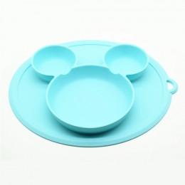 Płyta silikonowa dla dzieci miski dla dzieci karmienie dziecka miseczka silikonowa dla dzieci żel krzemionkowy naczynia dla dzie
