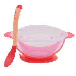 Miska dla dzieci zestaw miseczka treningowa łyżka zestaw stołowy miska nauka naczynia z przyssawką dzieci szkolenia naczynia TSL