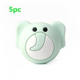TYRY. HU 5pc Food Grade Cartoon kulki silikonowe Mini Fox Penguin Puppy słoń Koala Baby gryzak BPA bezpłatne DIY gryzaki dla nie