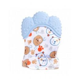 Dla dzieci silikonowe rękawice rękawiczki z gryzaczkiem rękawice dźwięk gryzak noworodka do żucia pielęgniarstwo rękawice gryzak