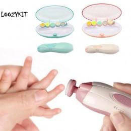 Loozykit bezpieczne elektryczne obcinacz do paznokci obcinacz do paznokci Manicure Pedicure Clipper Cutter nożyczki dzieci niemo