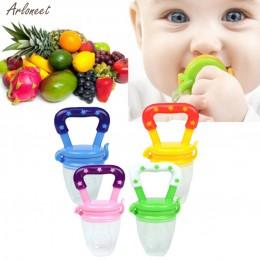Nowy smoczek dla niemowląt bezpieczny silikon maluchy gryzak owoce warzywa zabawka ząbkowanie pierścień do żucia smoczek jeść ow