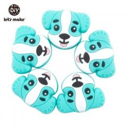 Zróbmy 5pc cukierki kolor gryzak kulki silikonowe kształt gwiazdy na klips smoczka DIY śliczne gryzaki silikonowe gryzaki dla dz