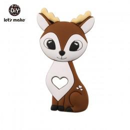 Tiny Rod 1pc silikonowy gryzak Bambi Sika Deer zabawka sensoryczna noworodki zabawka dla dziecka akcesoria pielęgnacja organiczn