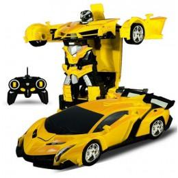 Rc Transformer 2 w 1 RC samochód napędowy samochody sportowe napęd robot transformujący się w modelach zdalnie sterowanym samoch