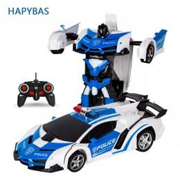 RC Car robot transformujący się Model pojazdu sportowego roboty zabawki fajne zdeformowany samochód dla dzieci zabawki prezenty