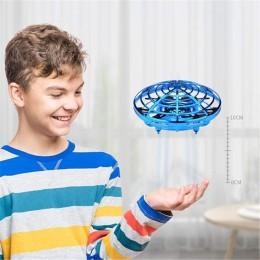 Mini UFO Drone antykolizyjny latający helikopter magiczna ręka piłka UFO samolot wyczuwający indukcja Drone Kid elektryczna elek