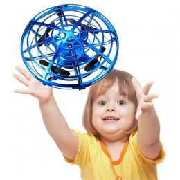 Mini Drone UFO zabawki kontrola wykrywania podczerwieni ręcznie latające samoloty antykolizyjna ręczna indukcja Quadcopter dron