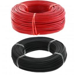 10 metrów/partia wysokiej jakości 5m czerwony i 5m czarny kolorowy drut silikonowy 10 12 14 16 18 20 22 24 26 AWG 40% Off