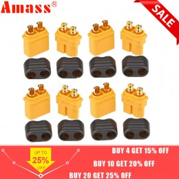 10 x Amass XT60 + złącze wtykowe z obudową osłony 5 męskie 5 żeńskie (5 par)