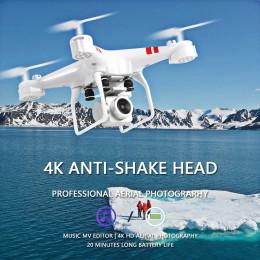 2019 nowy Drone 4k kamera HD Wifi transmisja dron fpv ciśnienie powietrza stała wysokość czteroosiowy samolot helikopter rc z ka