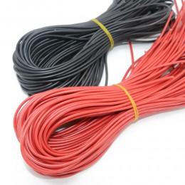 10 metrów/partia wysokiej jakości drut silikonowy 10 12 14 16 18 20 22 24 26 AWG 5m czerwony i 5m czarny kolor