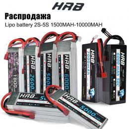 HRB akumulator do rc lipo 2S 3S 4S 6S 11.1v 22.2v 5000mah 6000mah 3300mah 2200mah 4200mah 5200mah 7000mah bateria XT60-T Deans p
