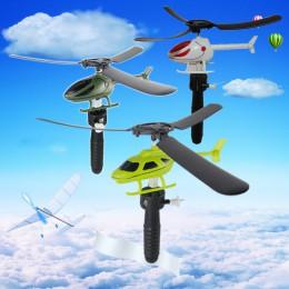 Zabawki edukacyjne dla dzieci Pull przewody RC helikoptery Fly Freedom sznurkiem Mini samolot prezenty dla dzieci/gry na świeżym