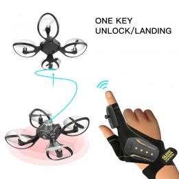 2019 nowy oryginał W606-16 Valcano rękawice kontroli interaktywne Mini dron Quadcopter Wifi FPV 480P kamera do zdalnie sterowane