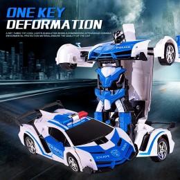 Transformacja RC samochód sportowy samochód napędowy odporny na wstrząsy Robot Mini nie 4WD RC zdeformowany samochód dzieci zaba