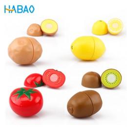 Udawaj zestaw do gry edukacyjne gotowanie symulacja miniaturowe jedzenie Model owoce i warzywa zabawki kuchenne dla dzieci dla d