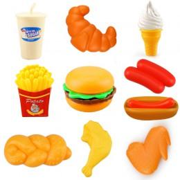 10 sztuk miniaturowe jedzenie zestaw zabawek kuchennych udawaj zagraj w dom symulacja gotowanie przekąski hamburgery edukacyjne