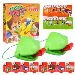 Żaba usta weź język karty tic-tac kameleon Tongue zabawna gra planszowa dla rodziny zabawka na imprezę bądź szybki do lizania ka