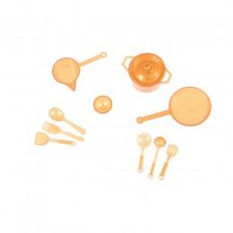10 sztuk/partia 1/12 Mini zastawa stołowa 1:12 Dollhouse miniaturowe rysunek widelec Pot zestaw kuchenny żywności akcesoria do z