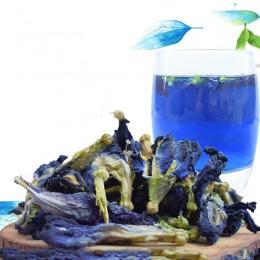 1 worek 100g 1500g bavaria Ternatea suszony kwiat zabawka kuchenna. Tajlandia niebieski motyl groch herbata symulacja zagraj w z