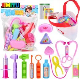 16 sztuk dom zabaw dla dzieci puzzle zabawkowy zestaw lekarski zestaw chłopiec dziewczyna symulacja lekarz do odgrywania ról lek