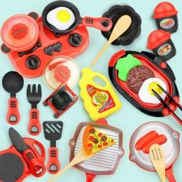 Dzieci miniaturowy zestaw zabawek kuchennych udawaj zagraj w imitacja jedzenia garnek Pan gotowanie zagraj w zabawka domowa prez