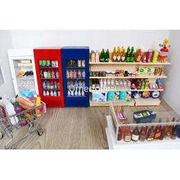 1/12 skala udawaj zagraj w miniaturowy domek dla lalek do supermarketu lalka jedzenie napój akcesoria dekoracyjne zabawki