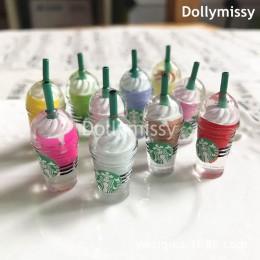 6 sztuk Dollhouse miniaturowe 1:6 skala lody filiżanka kawy Drink udawaj jedzenie domek dla lalek dla 1/6 lalki kuchenne zabawki