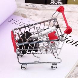 Gorący Mini wózek ze stali nierdzewnej wózek na zakupy do supermarketu tryb przechowywania telefon do zabawy pojemnik na żywność