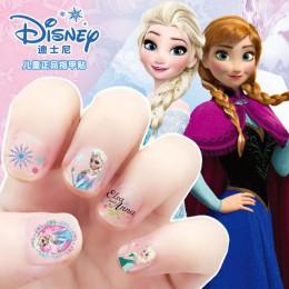 Disney naklejki zabawki dziewczyny mrożone Elsa i Anna makijaż zabawki naklejki do paznokci śnieżka księżniczka Mickey Minnie ko