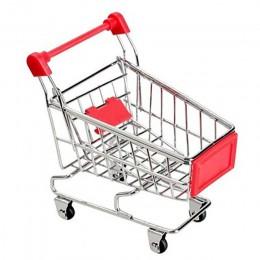 Kreatywny Mini wózek dziecięcy symulacja mały wózek na zakupy do supermarketu wózek ogólnego przeznaczenia udawaj zabawki wózki
