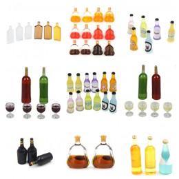 1/2/3/6/15 sztuk/zestaw 1/12 domek dla lalek miniaturowe akcesoria mini butelka wina symulacja napoje zabawki modele dla dekorac