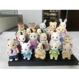 Geniune Sylvanian rodzin 10 sztuk Furry zestaw figurek psy/Squrriels/niedźwiedź/mysz/owce losowo nowy nie pakiet
