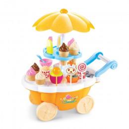 39 sztuk dzieci udawaj zagraj zabawki symulacji cukierki muzyki lody Mini push samochód zabawka zabawki do wczesnej edukacji dla
