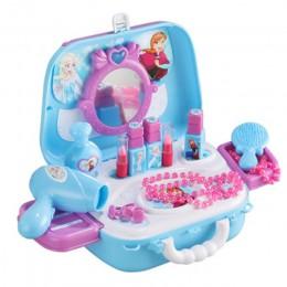Disney girls zabawki księżniczka zabawki frozen Dressing makijaż zestaw zabawek dla dzieci makijaż mrożone zabawki toaletka dla