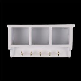 1:12 Dollhouse miniaturowa kuchnia ściana z drewna półka z hakiem biały wystrój pokoju