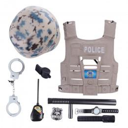 8 sztuk/9 sztuk/11 sztuk zestaw zabawek imitacji dzieci symulacja policjant zestawy do odgrywania ról zawody zabawki dla chłopcó