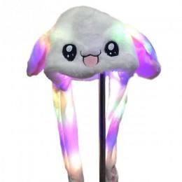 2019 moda ruchomy kapelusz uszy królika pluszowe słodkie urocze oświetlenie Cap 2 kolor można wybrać