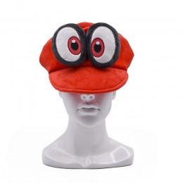 Anime Mario Cosplay z dużym uchem Odyssey Cappy czerwony kapelusz Mario miękkie poręczne czapki baseballowe Unisex regulowane cz