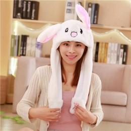 Nowe atrakcyjne ruchome ucho słodkie zwierzę pluszowa czapka śmieszne Playtoy ucho w górę królik pies świnia prezent zabawka dla