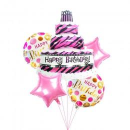 5 sztuk duży rozmiar kreskówkowe ciasto balony okrągłe z helem urodziny dekoracje świąteczne ślub kapelusz kreskówka