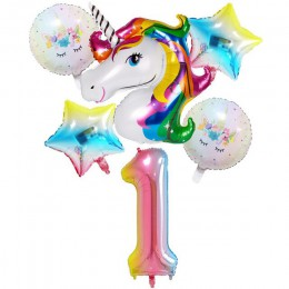Taoqueen kapelusz kreskówka balony z jednorożcem balony na imprezę urodzinową pakiet pełni księżyca dekoracje urodzinowe dziewcz