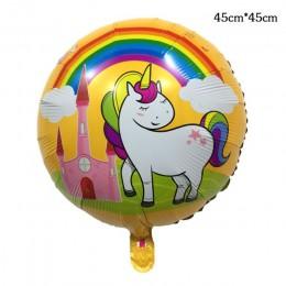 Kapelusz kreskówka impreza jednorożec materiały dekoracyjne 3D jednorożec chodzące zwierzę z balonów foliowych dziewczyny na imp