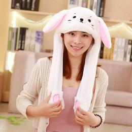 2019 Hot moda Cartoon Kawaii ruchome uszy śliczny kapelusz królik poduszka powietrzna zabawny kapelusz dla dziewczyny Cap dzieci