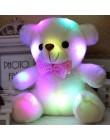 Świecące Luminous pluszowy miś zabawki dla dzieci 22CM białe oświetlenie wypchany miś miś piękne prezenty zabawki na urodziny dz