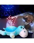 Świecące zabawki dla dzieci lampa projektorowa Hippo sen Led noc światło gwiazdy Instrument wokalne zabawki muzyki i projektor ś
