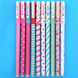 10 sztuk/zestaw kolor długopis kwiat zwierząt Starry Star słodka Flora kolorowy długopis żelowy 0.5mm śliczne długopisy szkolne